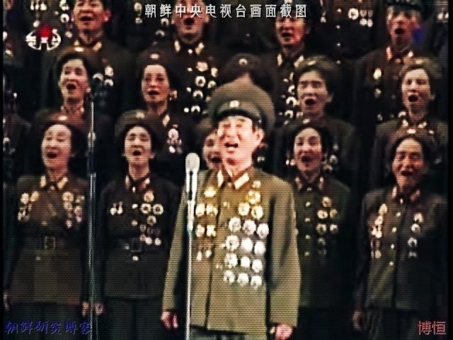 """晒晒朝鲜""""战胜美帝音乐会""""上的一派军威(图)"""